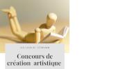 Un mannequin articulé en bois pour dessin lit à plat ventre 'Concours de création artistique'