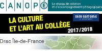 CANOPⒺ́ - La culture et l'art au collège - Drac Ile-de-France