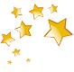 9 étoiles dorées de la plus petite à la plus grande