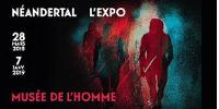 Bandeau de l'exposition NÉANDERTAL L'EXPO