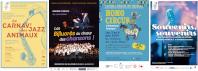 4 affiches du festival accolées