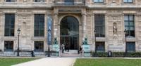 La porte Jaujard, entrée de l'École du Louvre, Aile de Flore du Palais du Louvre