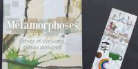 Milieu de couverture et signet du Livre de l'académie de Créteil 2017