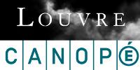 Logos superposés du musée du Louvre et de Canopé