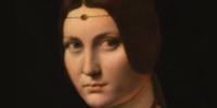 Léonard de Vinci, Portrait de femme, dit La Belle Ferronnière (détail), vers 1495-1499