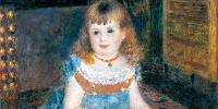 Pierre-Auguste Renoir (1841-1919), Mademoiselle Georgette Charpentier assise, 1876, détail