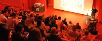 L'amphithéâtre du musée de la Grande Guerre du pays de Meaux pendant une conférence de M. Cochet