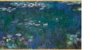 Les Nymphéas : Reflets verts (détail), 200 x 850 cm, Musée de l'Orangerie - Salle 1, mur est