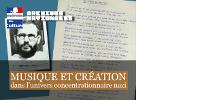 Haut de la page de garde 'Musique et création dans l'univers concentrationnaire nazi'