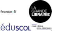 Logos de France 5, la Grande Librairie et éduscol