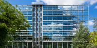 Vue du bâtiment de la Fondation Cartier pour l'art contemporain