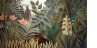 Détail de La jungle équatoriale du Douanier Rousseau, 1909
