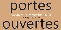 Affiche 'Journée portes ouvertes - vendredi 14 septembre 2018 - département des restaurateurs - INP'