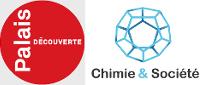 Logos du Palais de la découverte et de la fondation Chimie et société