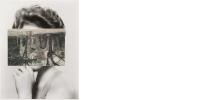 John Stezaker, Mask XIII, 2006, Tate, carte postale sur photo, noir et blanc