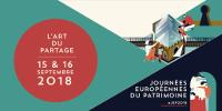 Bandeau des Journées européennes du patrimoine 2018 par L'Atelier Cartographik