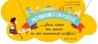 Bandeau de la 3ᵉ édition du jeu-concours Patrimoines en poésie