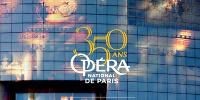 '350 ANS OPÉRA NATIONAL DE PARIS - MODERNE DEPUIS 1669' fondu des 2 façades Garnier et Bastille
