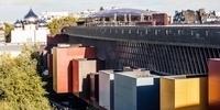 Vue aérienne du côté Seine du musée du quai Branly-Jacques Chirac