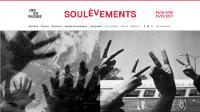 Haut d'un des écrans d'accueil du site soulevements.jeudepaume.org (les 2 photographies changent)
