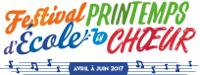 Visuel Festival Printemps d'École en chœur - AVRIL À JUIN 2017 (dans une portée musicale)