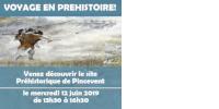 VOYAGE EN PREHISTOIRE! Venez découvrir le site Préhistorique de Pincevent le mercredi 12 juin 2019