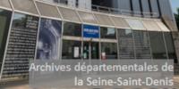 Le bâtiment des Archives départementales avec 'Archives départementales de la Seine-Saint-Denis'