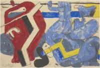 Le Corbusier, La chute de Barcelone, étude, 1938, Fondation Le Corbusier
