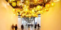 Installation de luminaires au Centre Pompidou