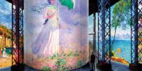 Vue de l'exposition à l'Atelier des Lumières, Paris