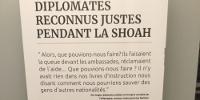 'DIPLOMATES RECONNUS JUSTES PENDANT LA SHOAH' suivi d'un texte de Per Anger, diplomate suédois