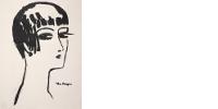 Estampe de Kees Van Dongen, Les cheveux courts, 1924